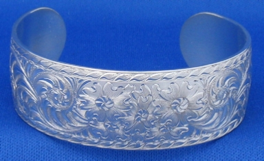 Engraved Western Bright Cut  Bracelet  by Les Schowe Engraving